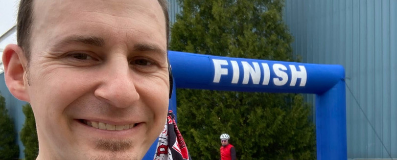 Photo after I finished the race at Shelburne
