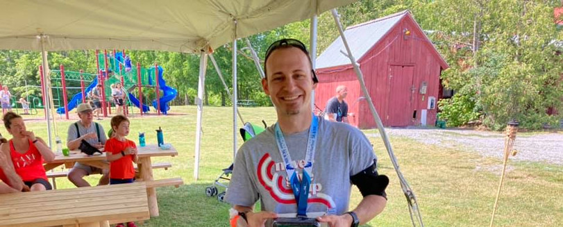 Photo of me after receiving second place awards at Basin Harbor.