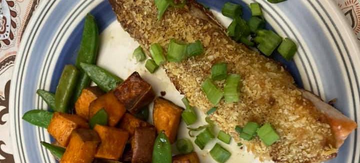 Sheet Pan Curry Salmon