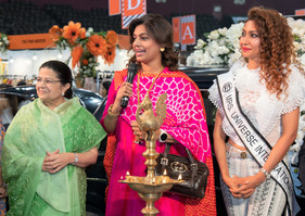 1. Chief Guests Fest 2019 -  Smt Rajshree Birla _ Pinky Shetty of the GVK group & Ms Maadh