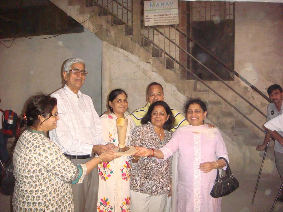 Token awarded for Jaipur Foot.JPG