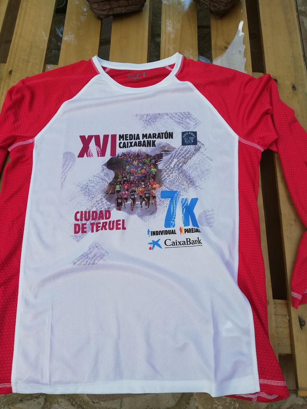 Camiseta XVI Media Maratón Ciudad de Teruel