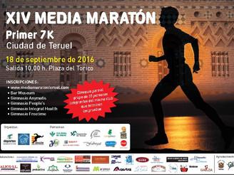 CARTEL XIV MEDIA MARATON Y I 7k CIUDAD DE TERUEL 2016