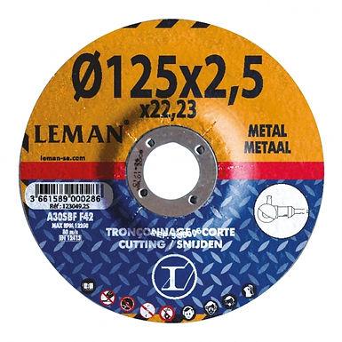 5x DISQUE TRONCONNAGE METAL 125/2.5 ou 230/2.5