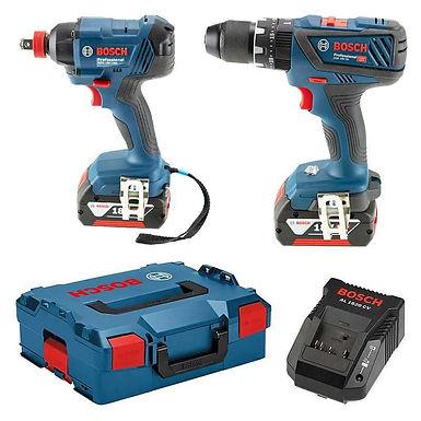 Pack 2 outils Bosch Professional 06019G5274 (GSB 18V-28 + GDX 18V-180) 18V (2x4A