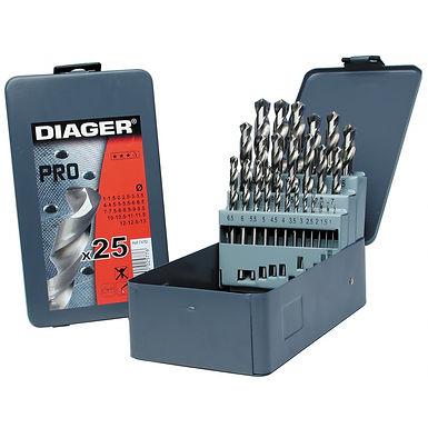 Coffret de 25 forets métal DIAGER
