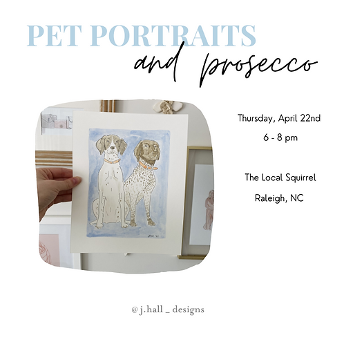 April 22nd Pet Paintings and Prosecco