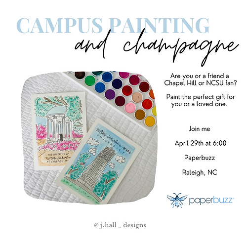 April 29th Campus Painting and Champagne