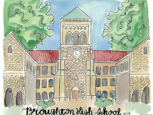 Broughton High School Print
