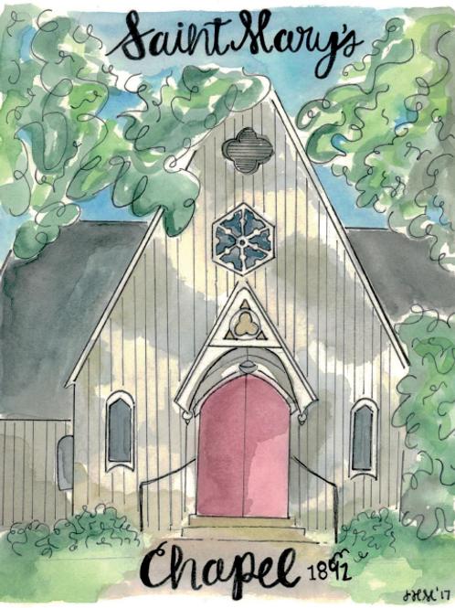 Saint Mary's chapel Print