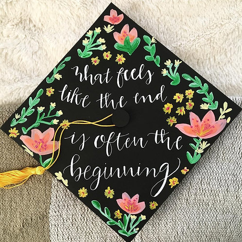 Custom Graduation Cap Topper, moderate detail