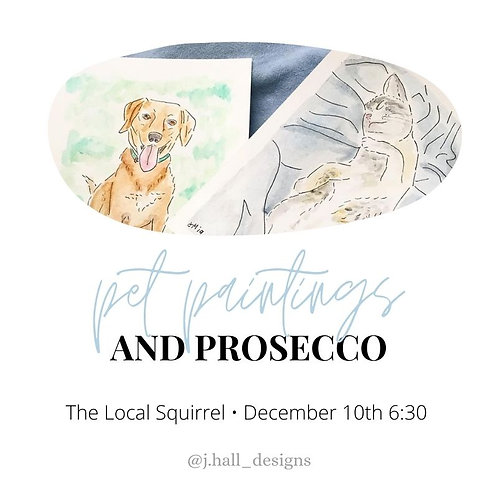Pet Paintings and Prosecco