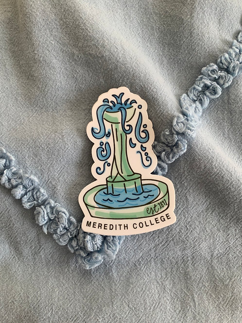Meredith College Decal