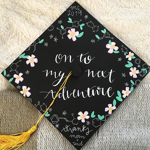 Custom Graduation Cap Topper, low detail