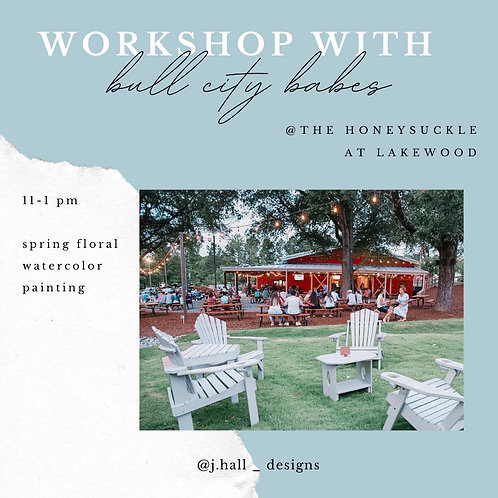 May 1st, Bull City Babes Spring Floral Watercolors