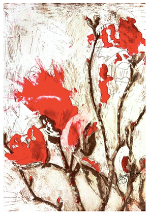 A3 Armidale magnolia IV red Digital Print