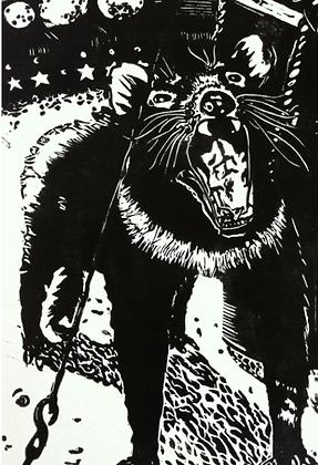 #31 Tassie devil greeting card