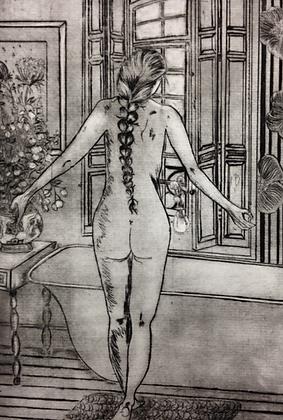 #38 Parisienne greeting card