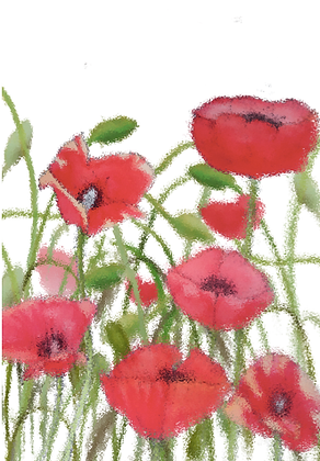#58 Poppy field greeting card