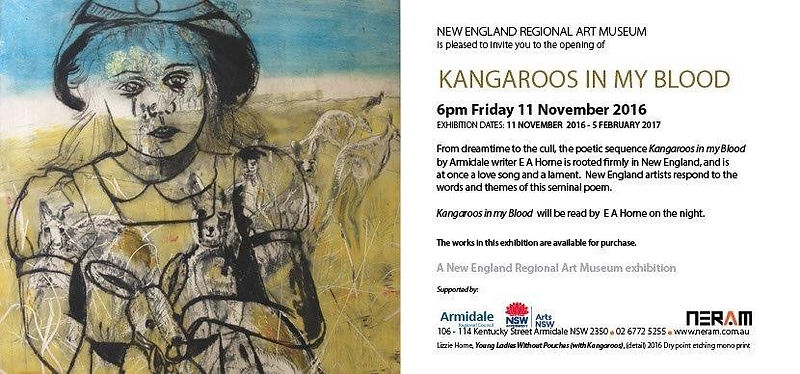 Kangaroos in my blood invitation