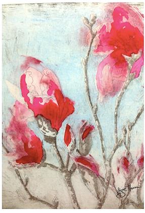 A2 Armidale Magnolia IV pink digital print