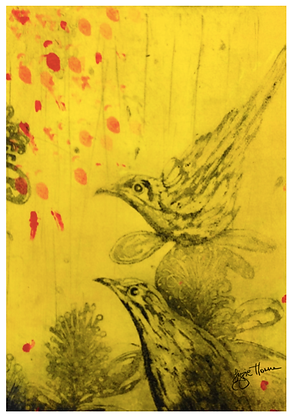 A3 Honeyeaters confetti Digital print