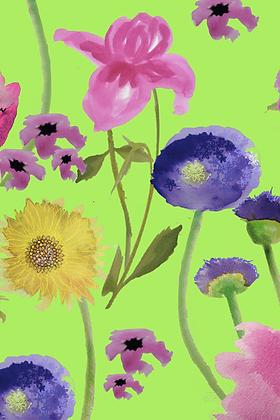 #43 Flower song (green) x 6