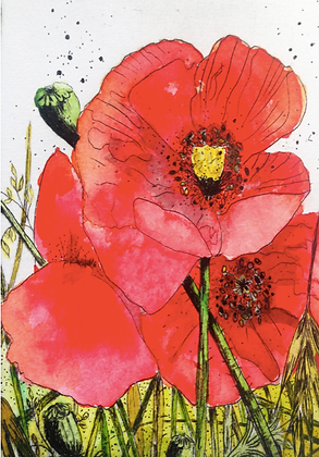 #59 Poppy seeds greeting card