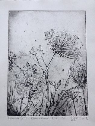 Summer field, Queen Anne's lace 7/10  SOLD