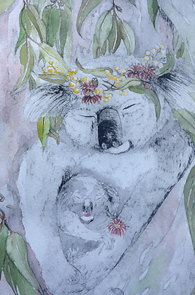 #36 Koala dreaming greeting card