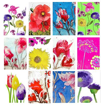 Happy garden 12 card collection