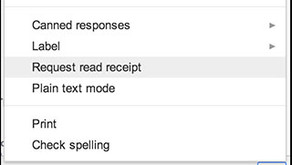 How to add a Read Receipt to your emails