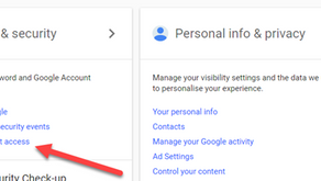 Check & tidy up your Google account Security & Permissions
