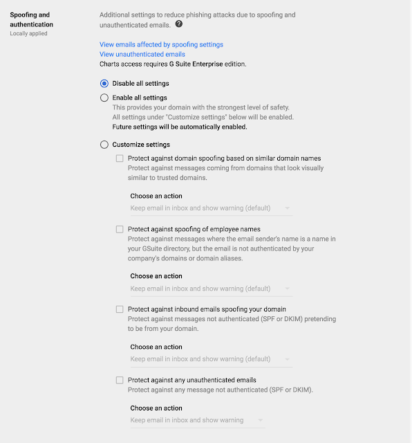 Gmail Spoofing and authentication