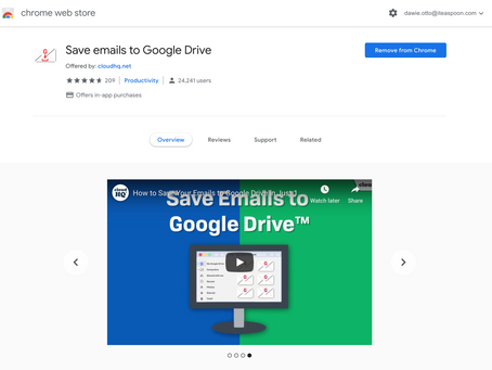Save Emails to Google Drive Extension