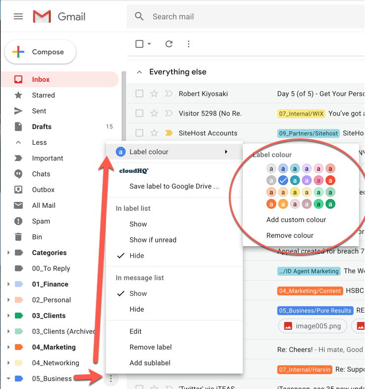 Colour Code Gmail Labels