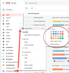 Colour Code Gmail Labels