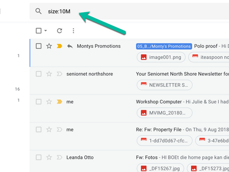 How to find large attachments in Gmail