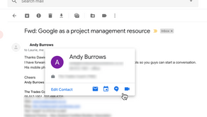 How to open a Hangout Chat from Gmail