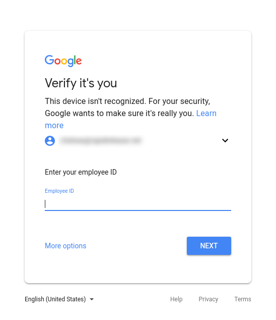 Google Login Challenge
