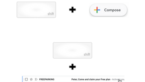 Use SHIFT to compose an email in a new tab