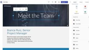 What can you do with Google Sites?