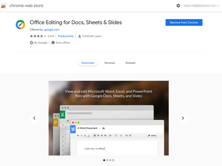 Office Editing for Docs, Sheets & Slides Extension
