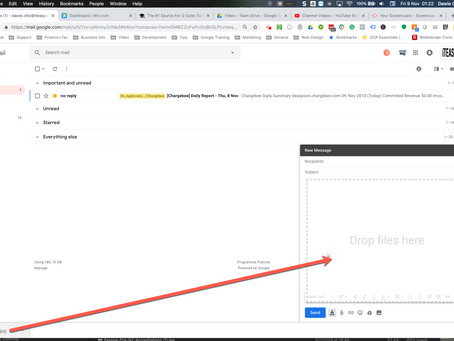 How to drag-and-drop to attach files in Gmail
