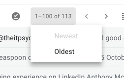How to sort email by oldest first