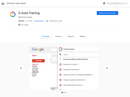 G Suite Training Extension