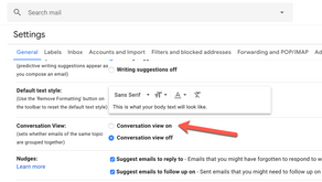 Gmail Conversation View - Group emails into conversations