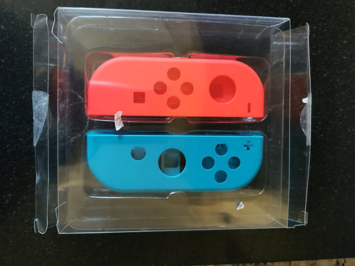 Official Neon blue/red Nintendo Switch Joycon replacement shells