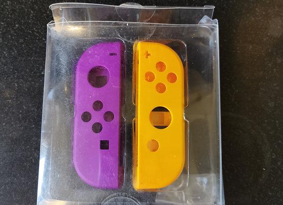Official Neon orange/purple Nintendo Switch Joycon replacement shells