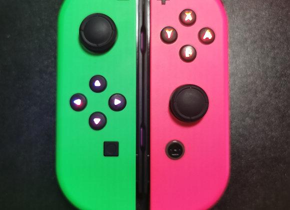 JoyCon Mod V10 Nintendos colours (pair)